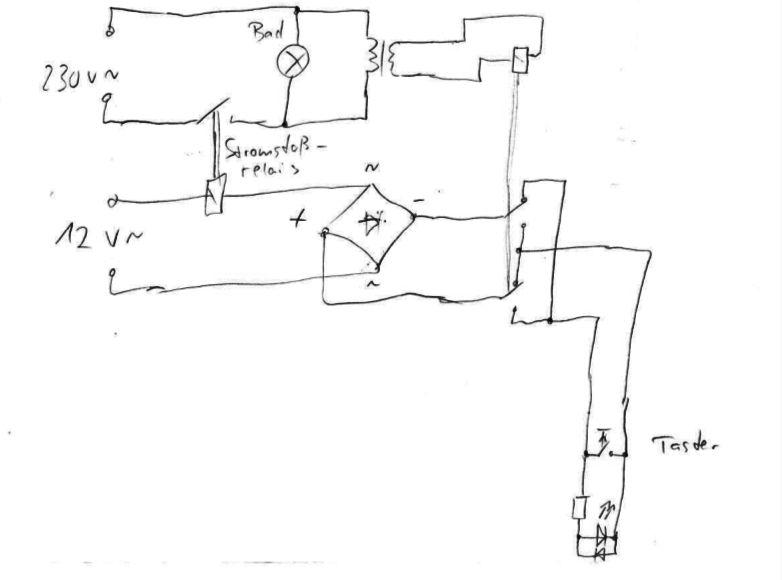bewegungsmelder anschliessen mit taster. Black Bedroom Furniture Sets. Home Design Ideas