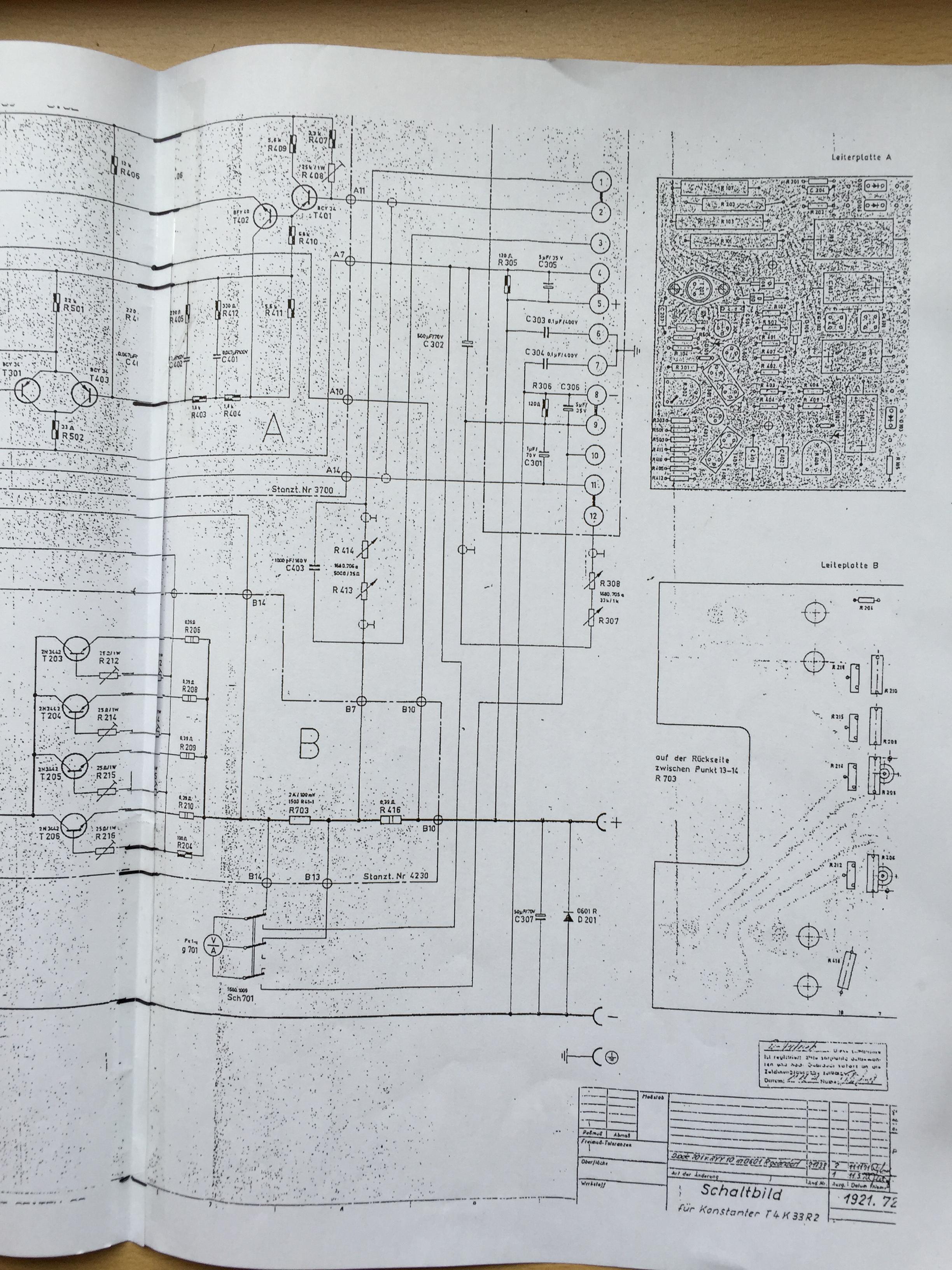 Suche Schaltplan für Gossen Konstanter - Mikrocontroller.net