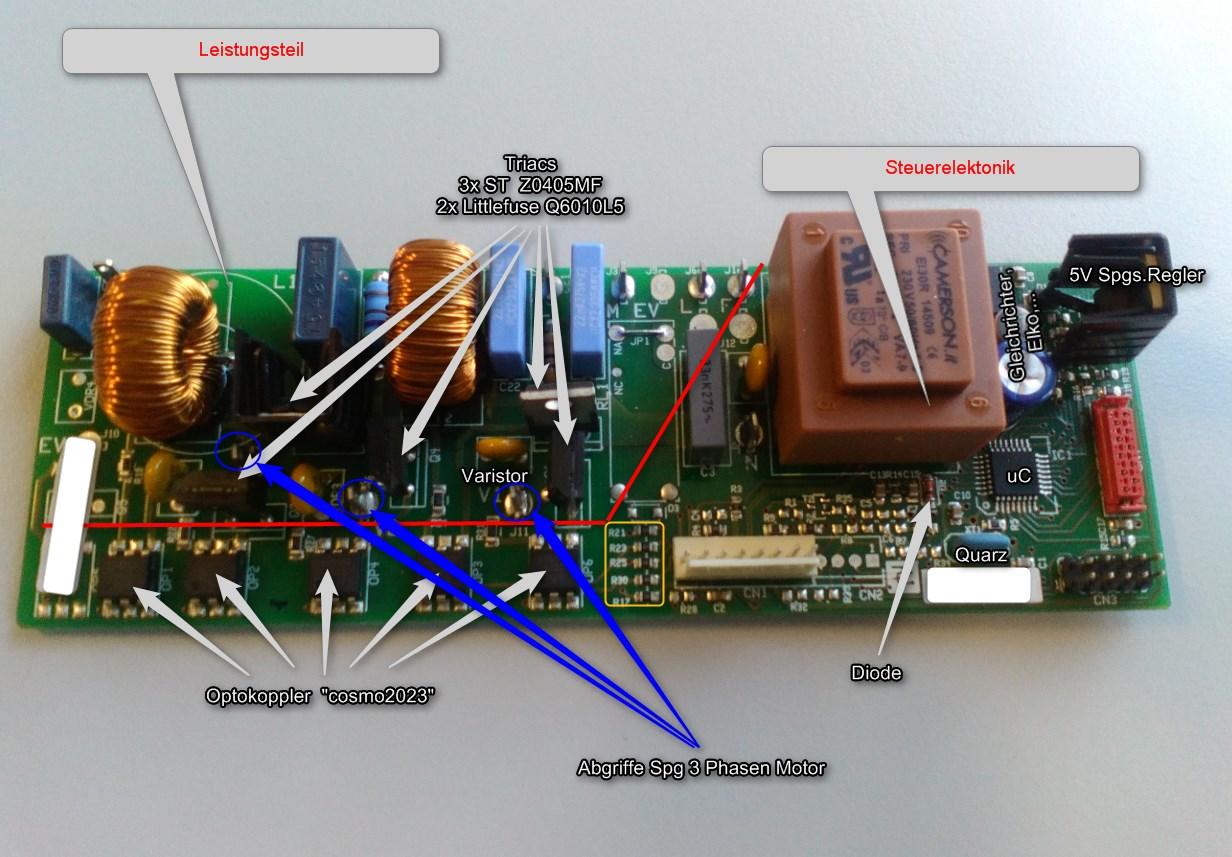 Steuerelektronik defekt mikrocontroller