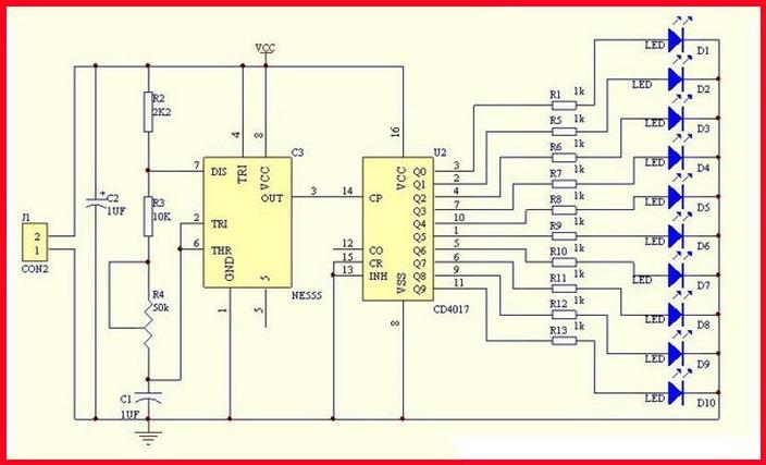 Lauflicht Modifizieren Nur Ein Durchgang Cd4017