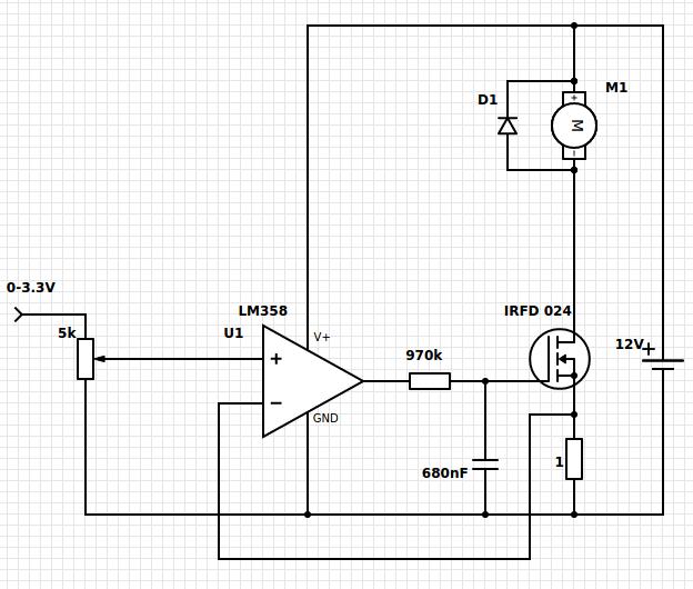 Lineare Motorsteuerung mit MOSFET und Opamp - Mikrocontroller.net