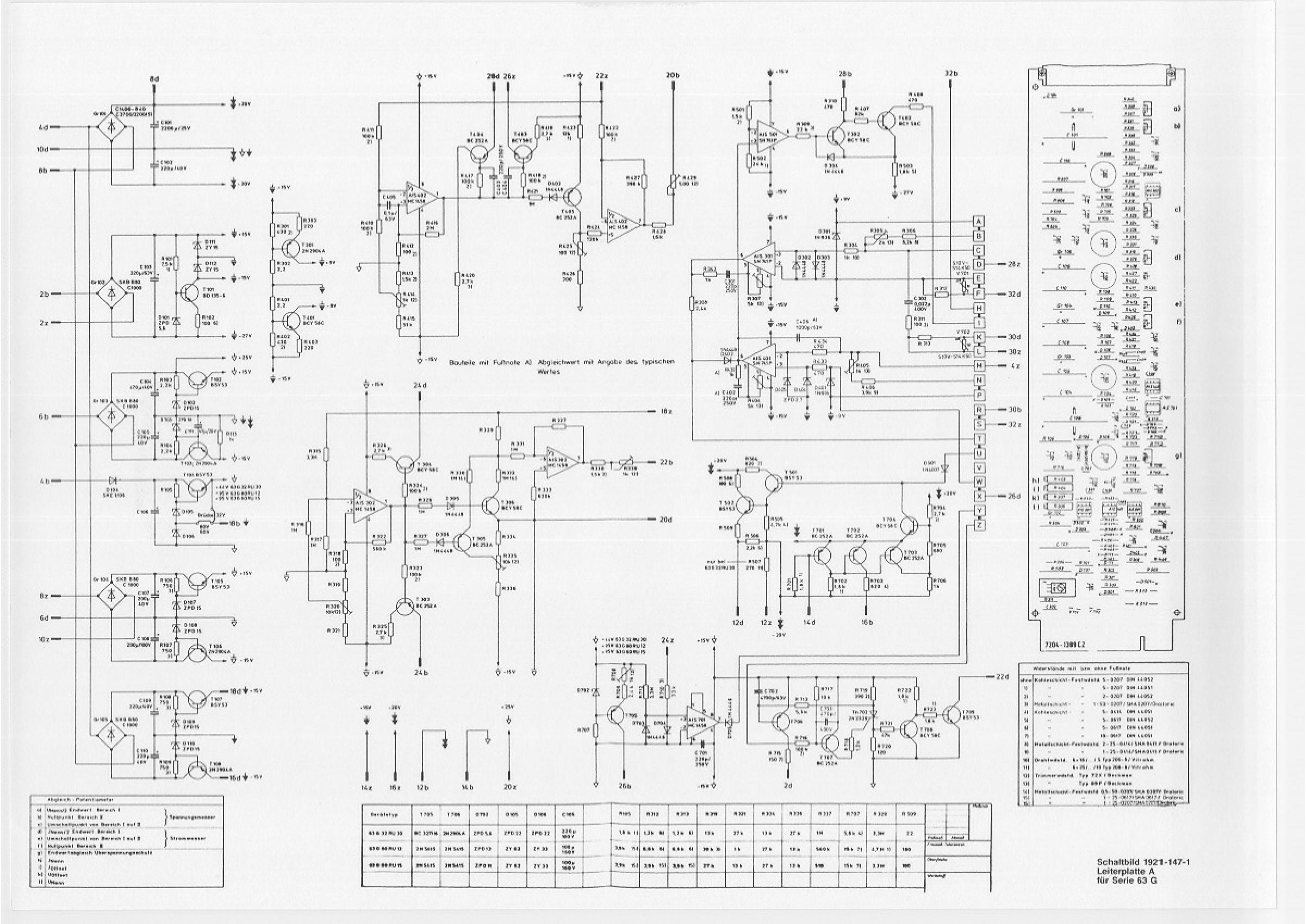 Netzteil Gossen Konstanter 63G - Mikrocontroller.net