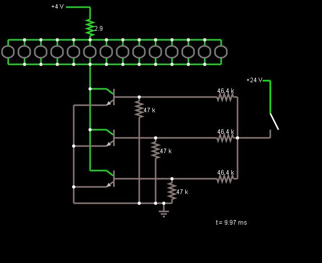 led schaltung transistor. Black Bedroom Furniture Sets. Home Design Ideas
