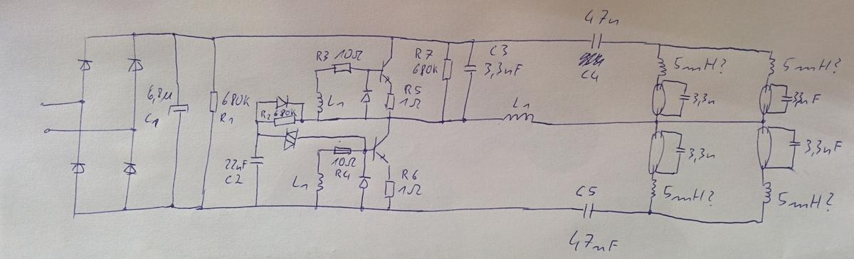 Parallelschaltung von mehreren Leuchtstofflampen - Mikrocontroller.net