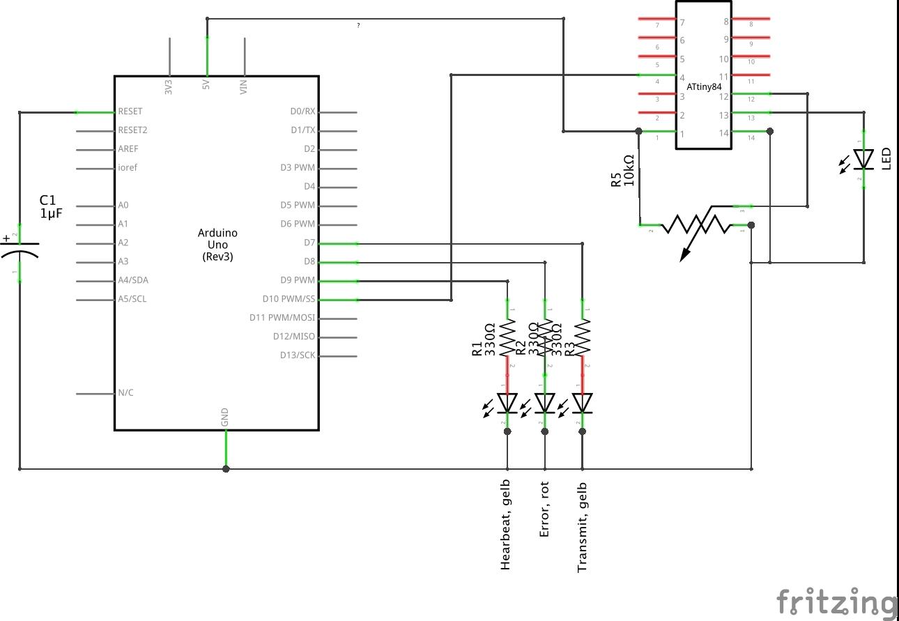 wie verbindet man die isp headers des arduino in fritzing