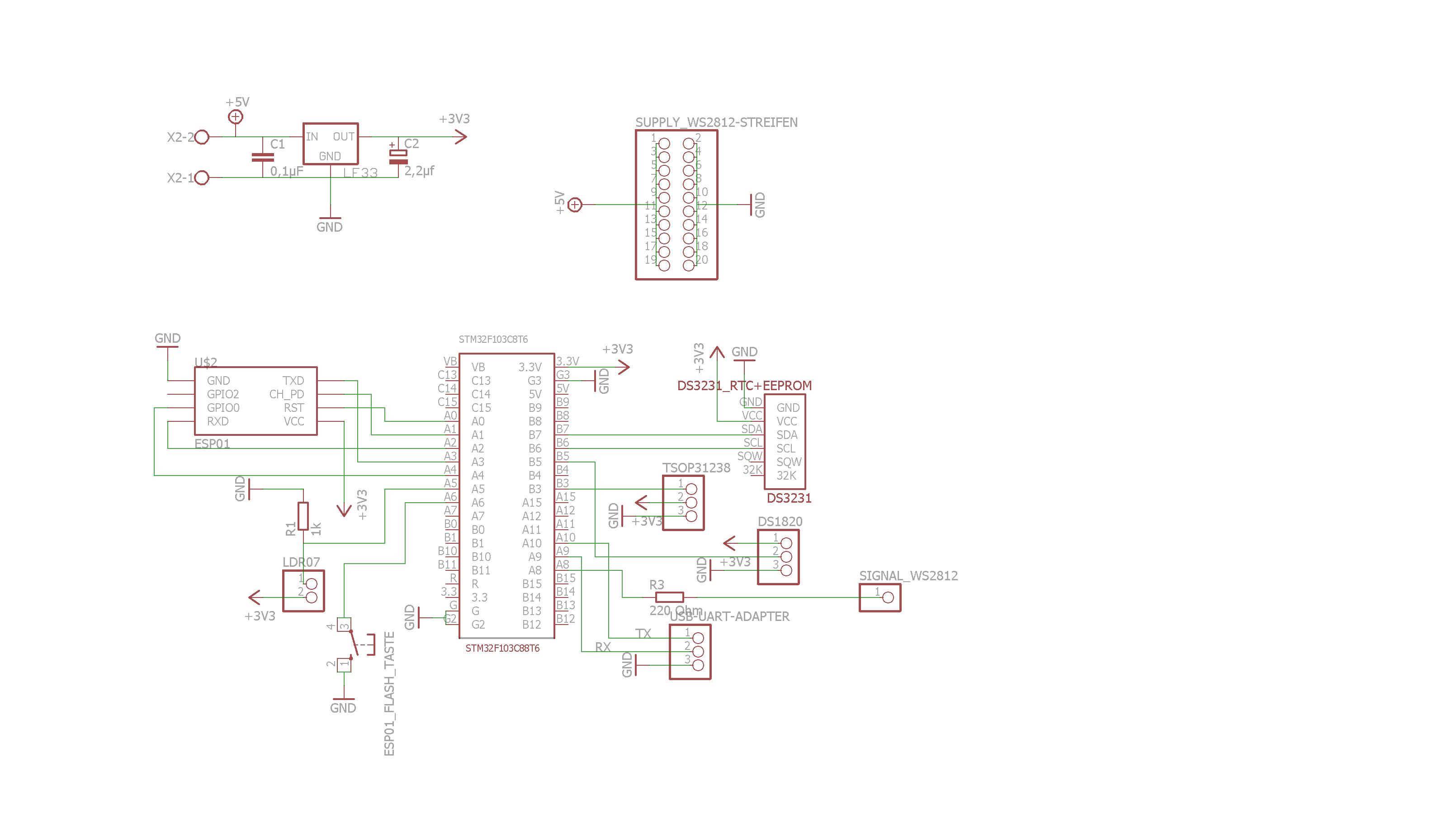 WordClock mit WS2812 - Mikrocontroller.net