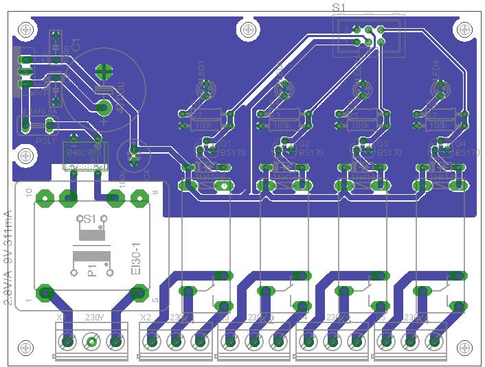 Netzteil und Relais Schaltplan und Layout ok? - Mikrocontroller.net