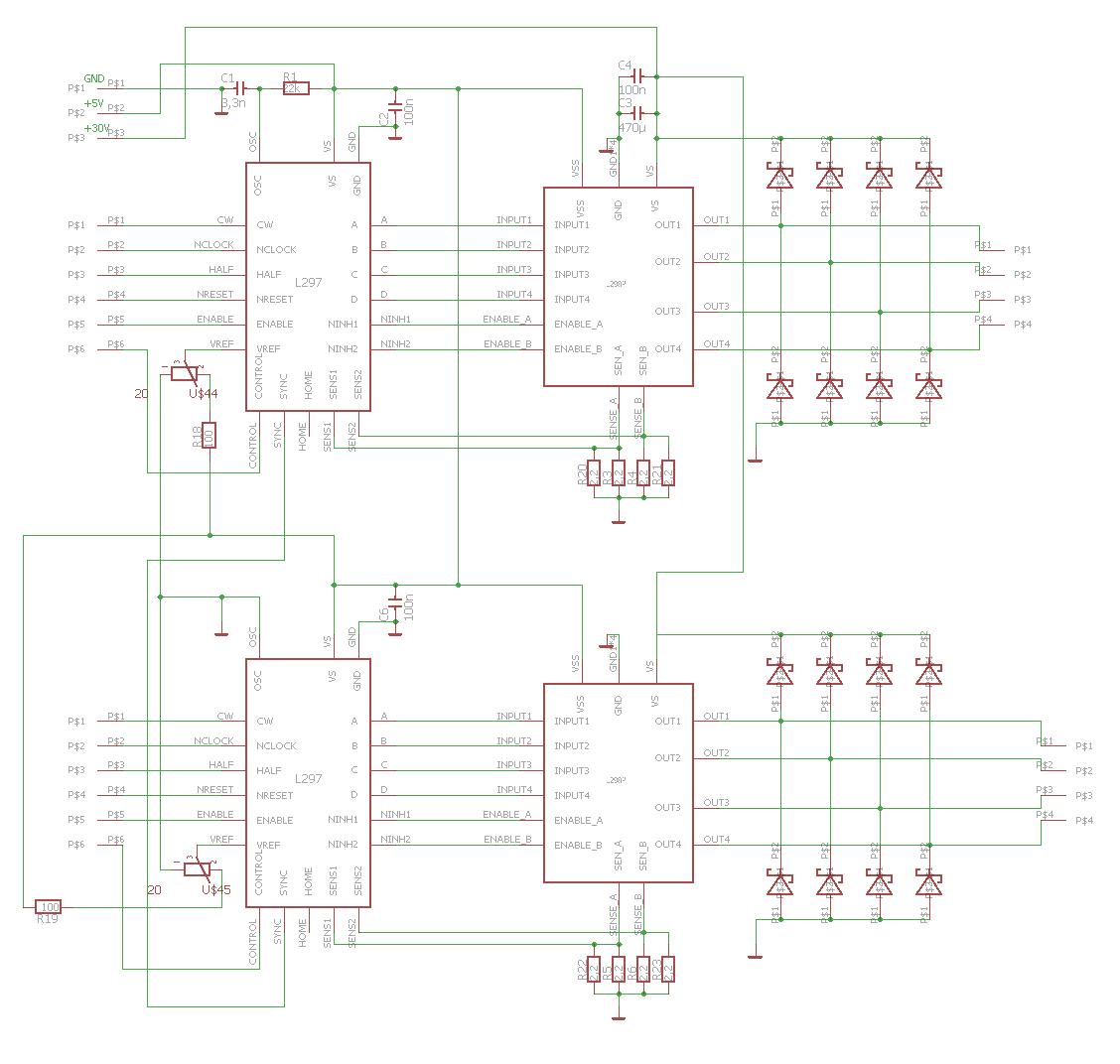 Wozu 470µ Kondensator bei Schrittmotoransteuerung (L297&L298 ...