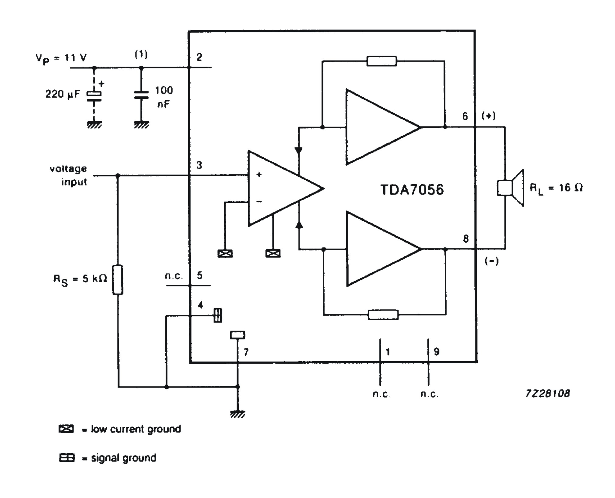 Diagram Amplifier Tda2050 32w Hi Fi Audio With Circuit Source Freecircuitdiagram For Mono Output Application Tda7056 Ic Can Be