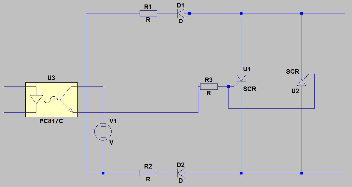 Thyristoransteuerung mit externer Spannungsquelle - Mikrocontroller.net