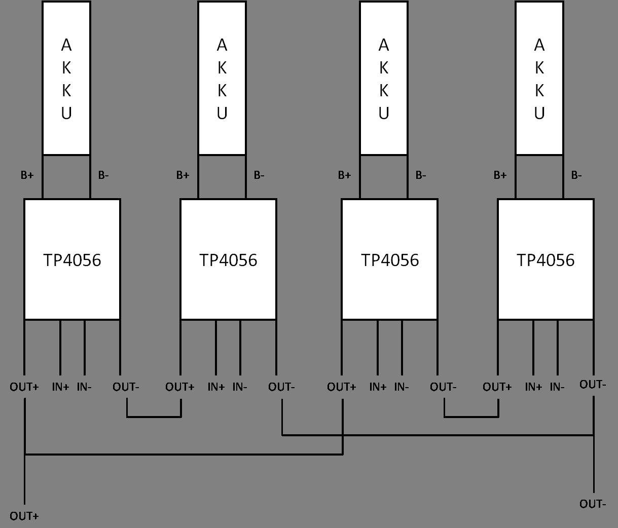 tp4056 li ion laderegler akkus parallel und seriell. Black Bedroom Furniture Sets. Home Design Ideas