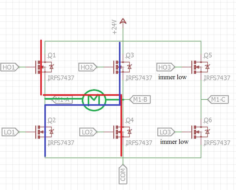 Ansteuerung eines DC Motors mit dem IR2136 (3-phase bridge driver ...