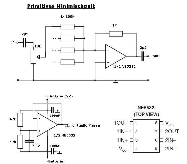 Idee für primitives 4-Kanal-Mischpult - Mikrocontroller.net