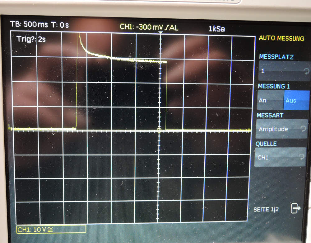 Stepup-Wandler schaltet nach 0,3 sec ab. Strategien zur Fehlersuche ...
