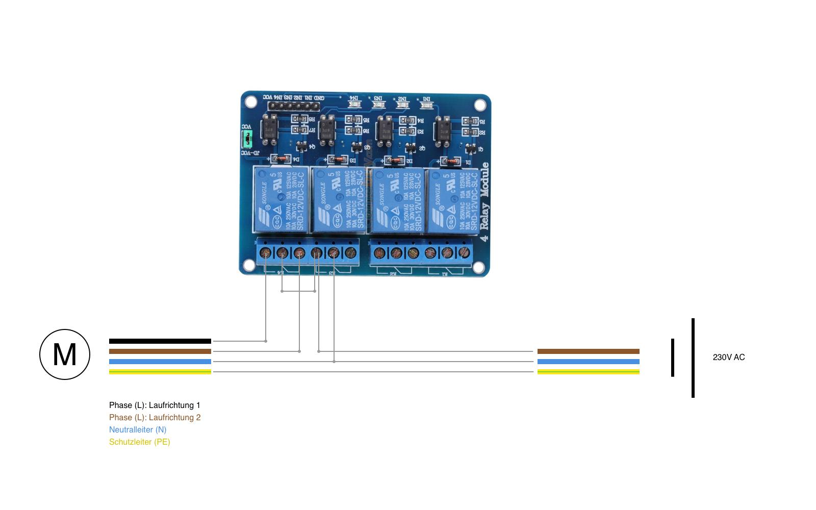 Rolladensteuerung mit Arduino. Ist diese Schaltung korrekt ...