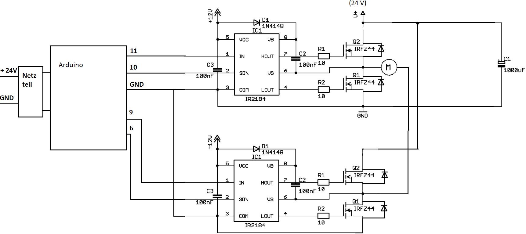 Motorsteuerung mit Endschaltern -> Microcontroller ...