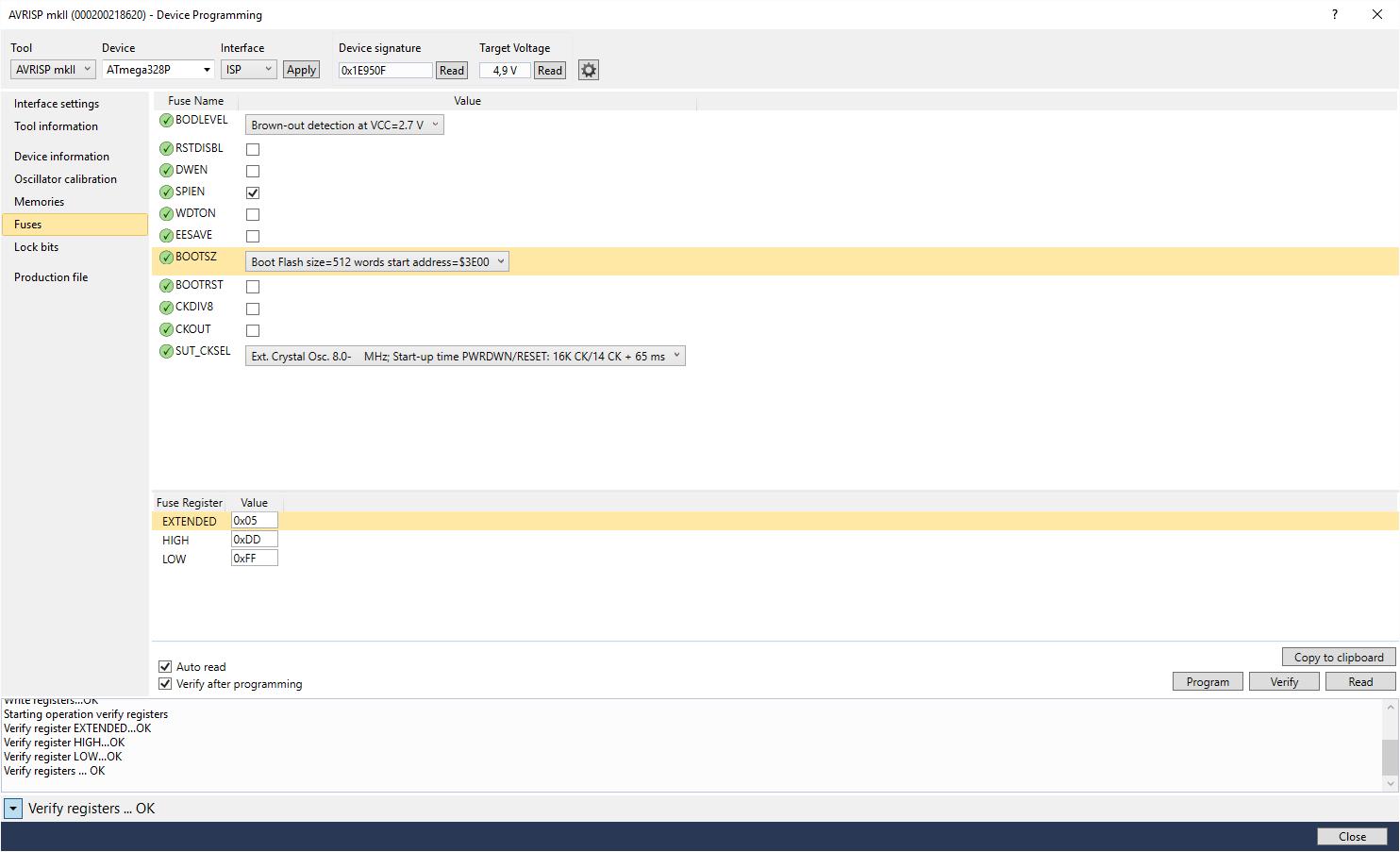 ATMEGA 328p Programm Upload nicht Möglich avrdude: stk500_loadaddr ...