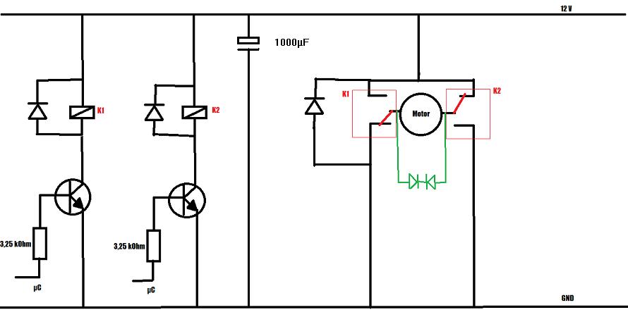 freilaufdiode am motor bei drehrichtungsumkehr
