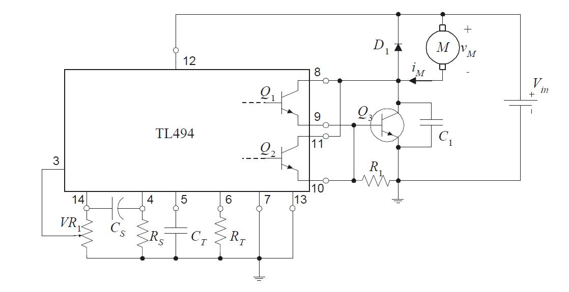 PWM mit Softstart - TL494 Schaltplan - Mikrocontroller.net