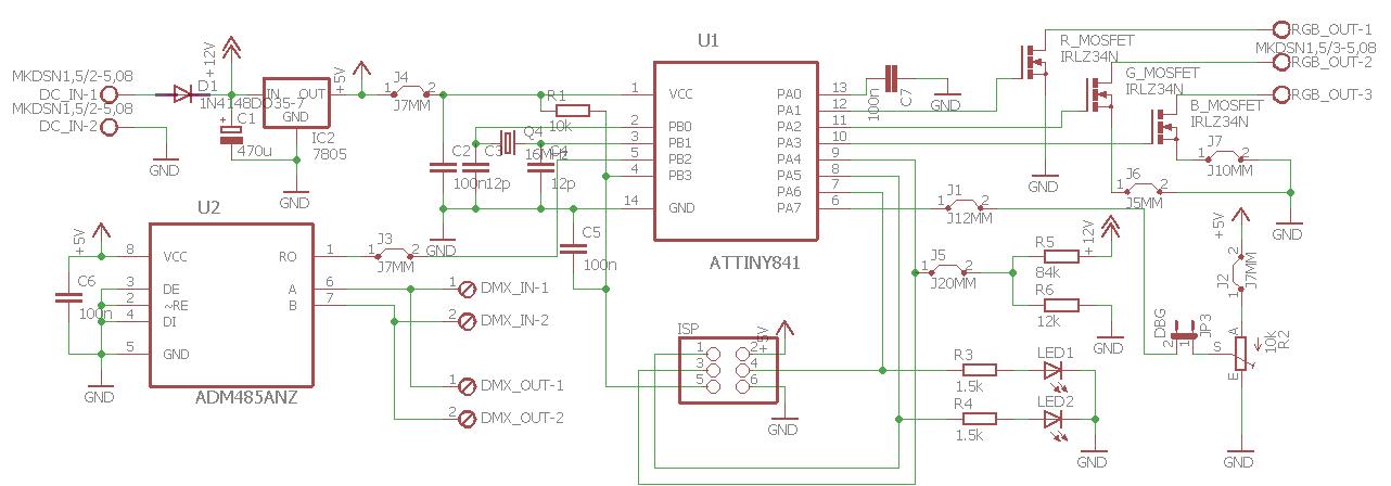 Überprüfung Schaltplan / Layout DMX RGB Dimmer - Mikrocontroller.net
