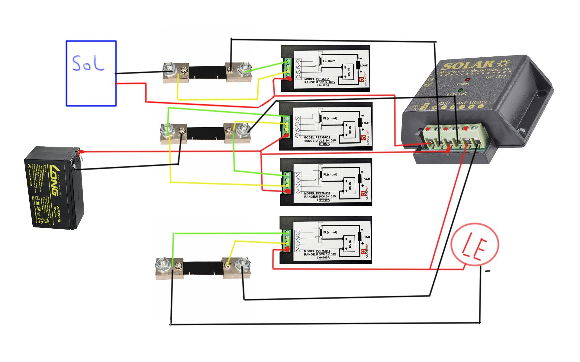 Frage zum Anschluss eines Digital Volt/Ampere Energiemessers an eine ...