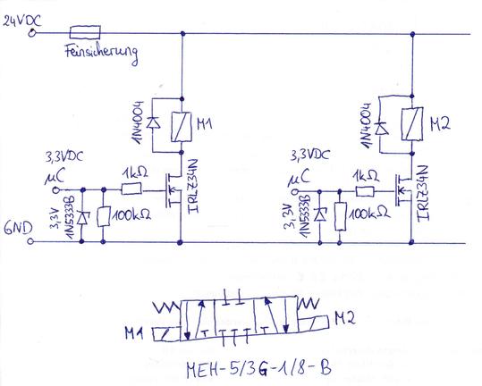 pneumatikventil ber mikrocontroller steuern. Black Bedroom Furniture Sets. Home Design Ideas