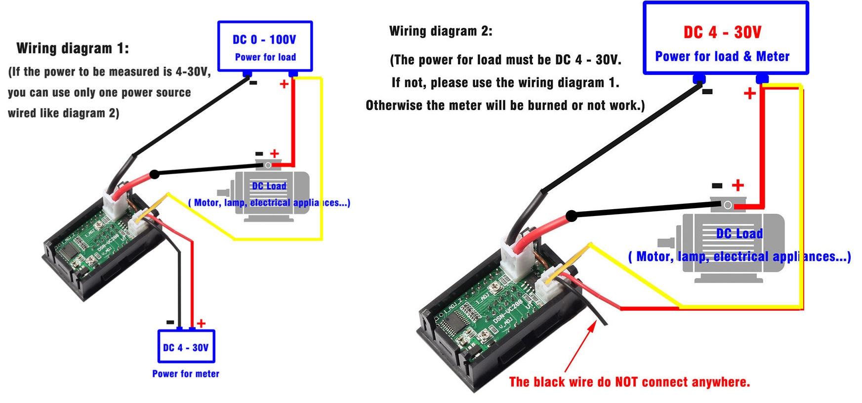 wiring diagram for amp volt meter with shunt ac amp meter