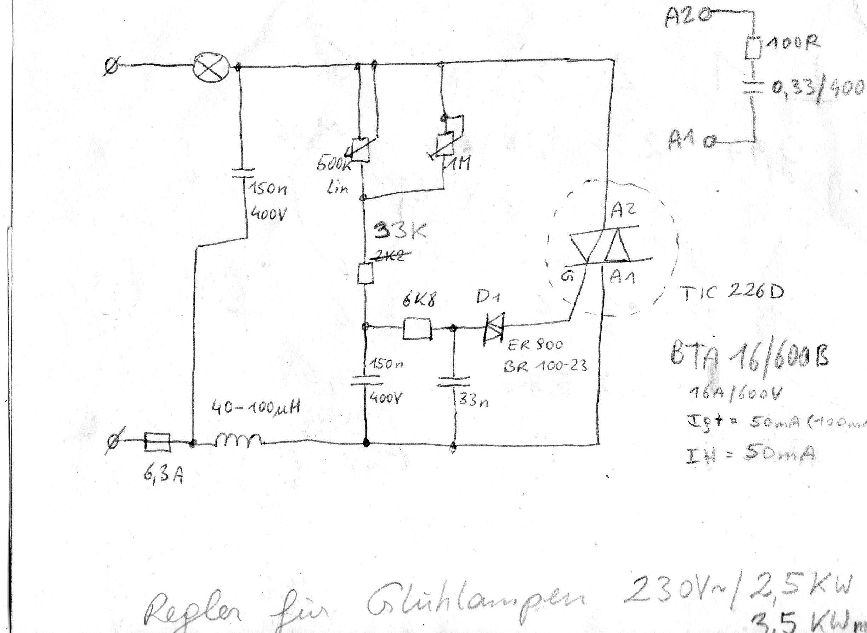 hochleistungs dimmer phasenanschnitt. Black Bedroom Furniture Sets. Home Design Ideas