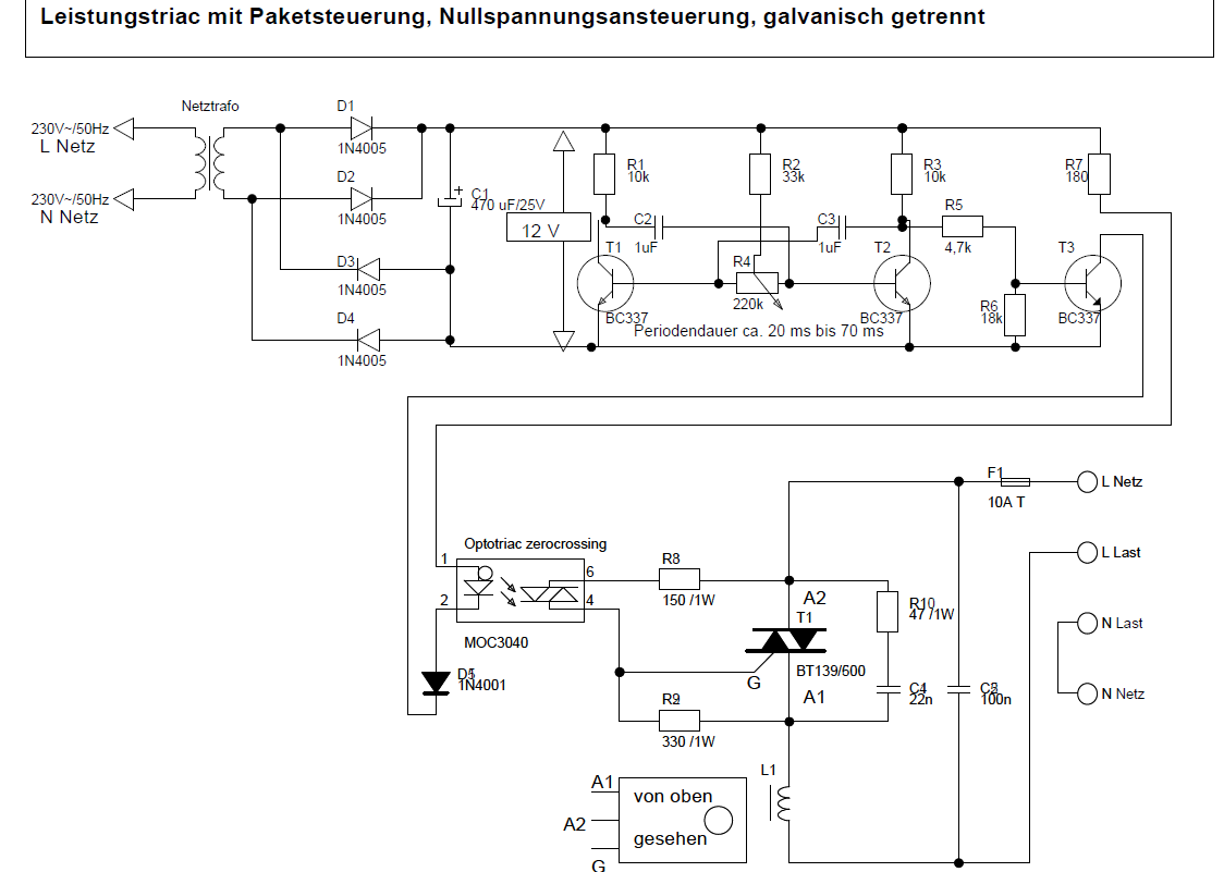 Optotriac Und Triac Richtig Beschalten Snubber Circuit Https Attachment 306627 Leistungstriac 03