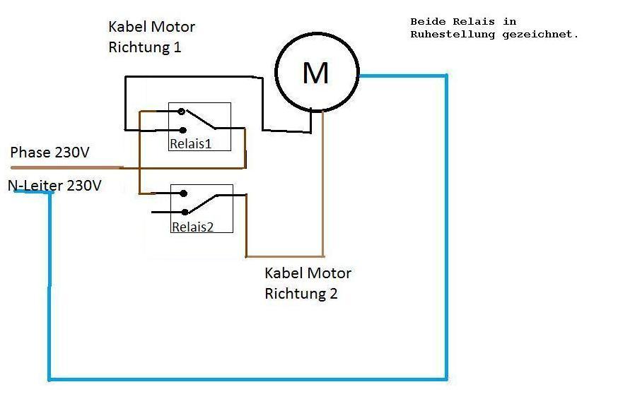 Ungewöhnlich Relais Motorsteuerung Galerie - Der Schaltplan ...