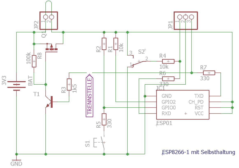ESP8266-1 mit Selbsthaltung - Mikrocontroller.net