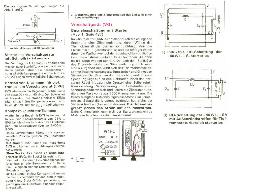 drossel für leuchtstofflampen - Mikrocontroller.net