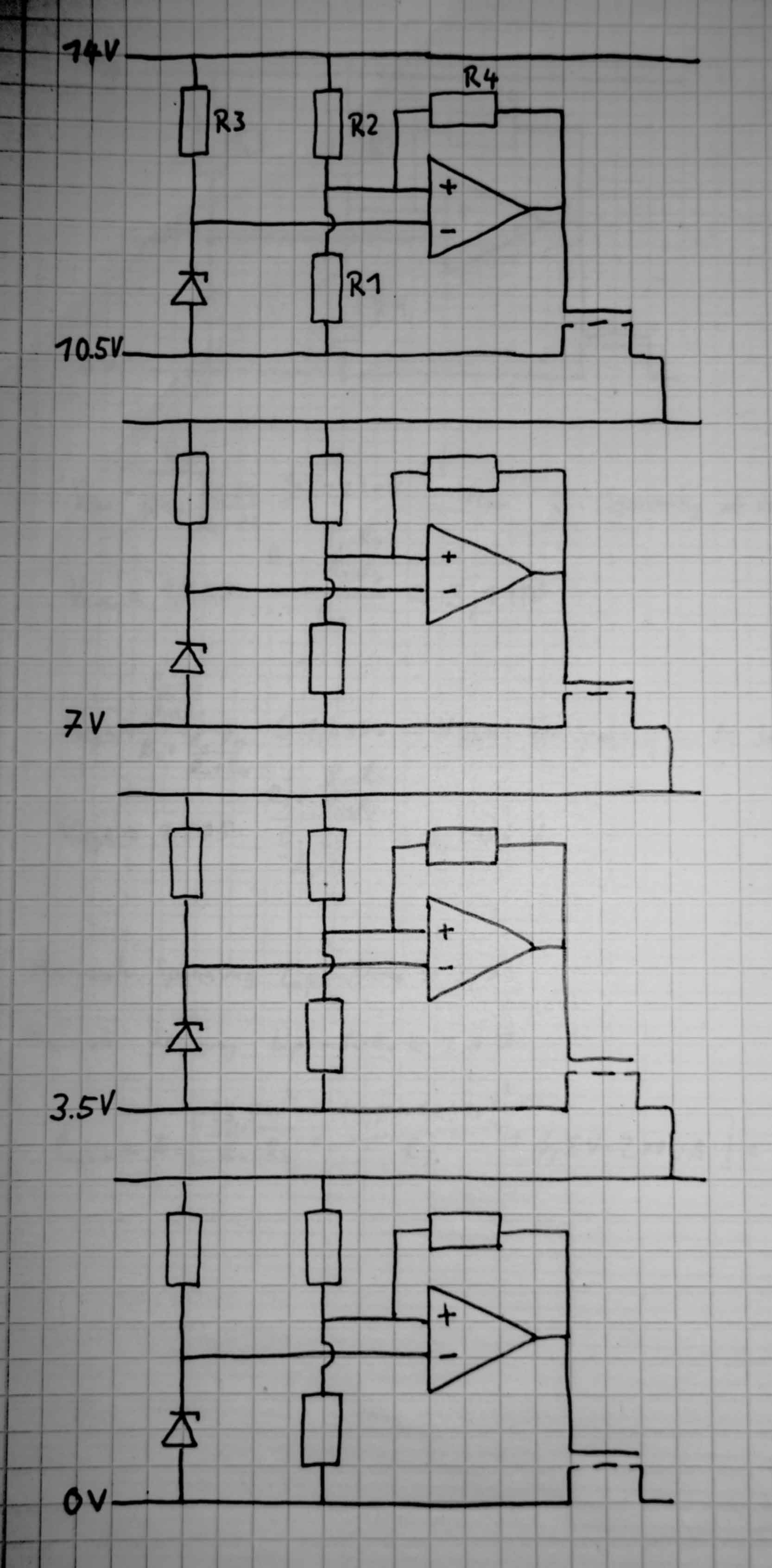 tiefentlade schutzschaltung f r 4s1p 14 8v lipo akku. Black Bedroom Furniture Sets. Home Design Ideas