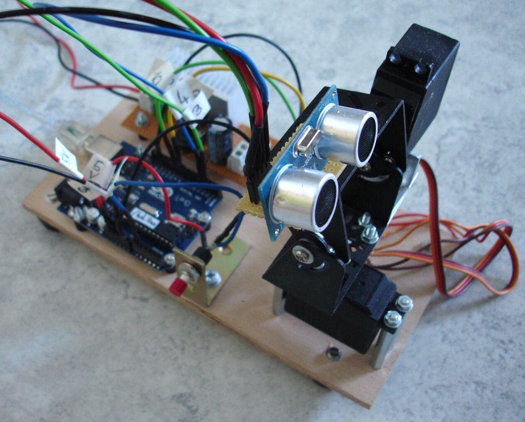 Experimente mit arduino und ultraschall mikrocontroller.net