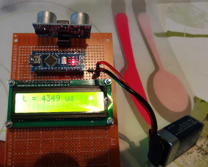 Experimente mit arduino und ultraschall mikrocontroller