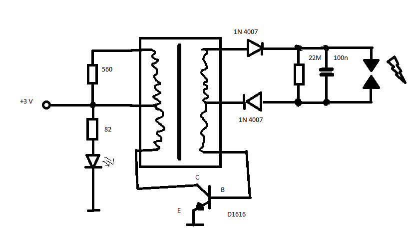 Verstehe Schaltung nicht (Hochspannungserzeuger) - Mikrocontroller.net