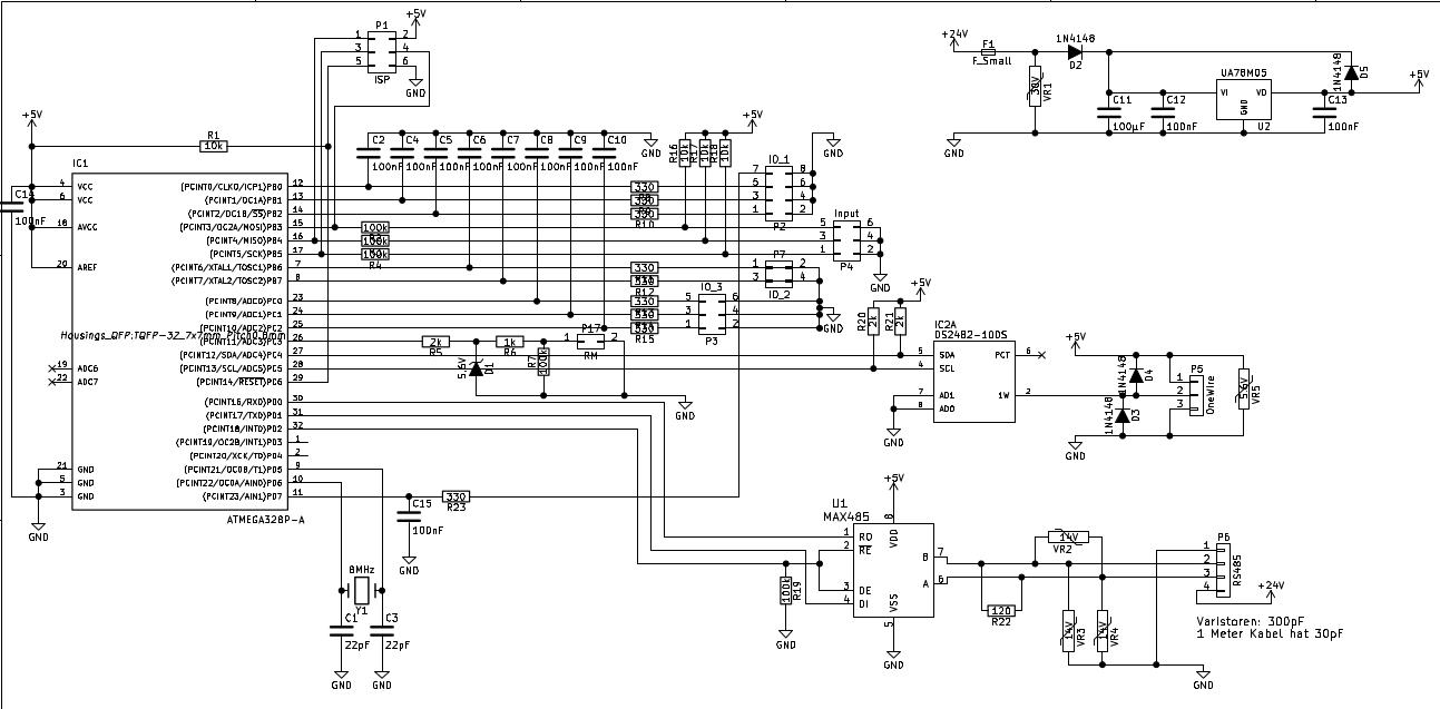 Schaltplan-Kritik: Atmega + RS485 + OneWire - Mikrocontroller.net