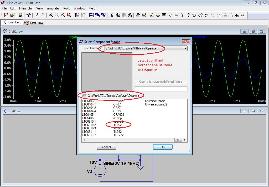Transistor in LTSpice hinzufügen - Mikrocontroller.net