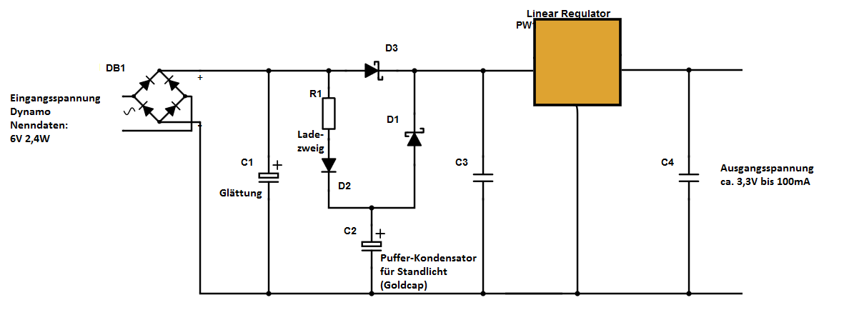 Fahrrad-Dynamo Spannungsreglung (Gleichspannung) - Mikrocontroller.net