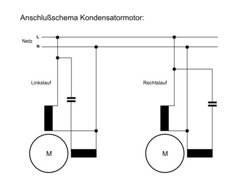 Wechselstrommotor Kondensatormotor Wicklungen vertauscht ...