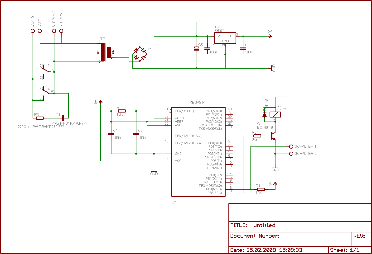 AVR soll Pumpe Steuern Relais geht an und aus? - Mikrocontroller.net