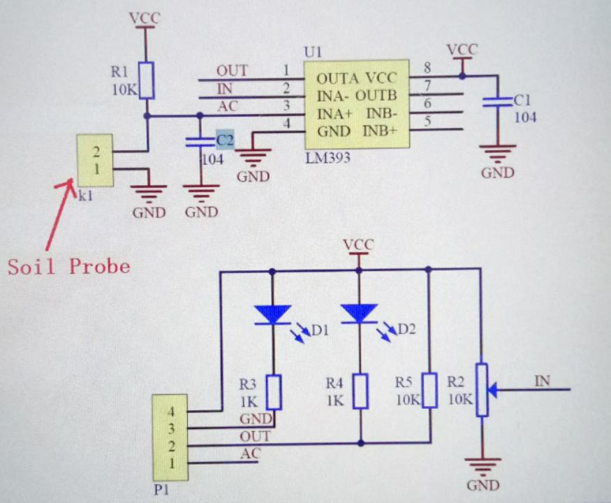 Bodenfeuchtesensor für arduino mikrocontroller