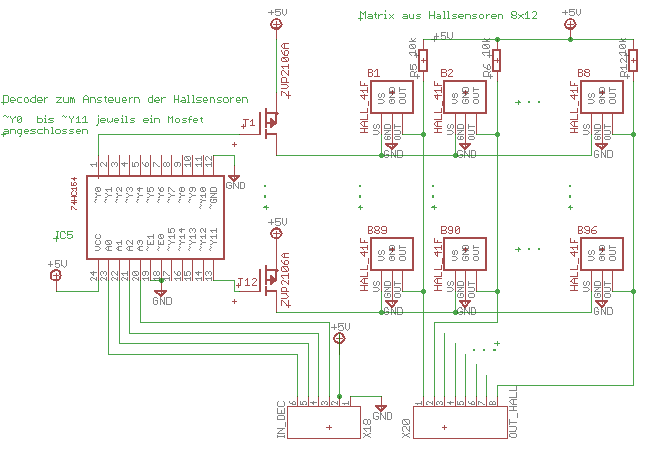 Hallsensoren 41F in Matrix geschaltet - Mikrocontroller.net