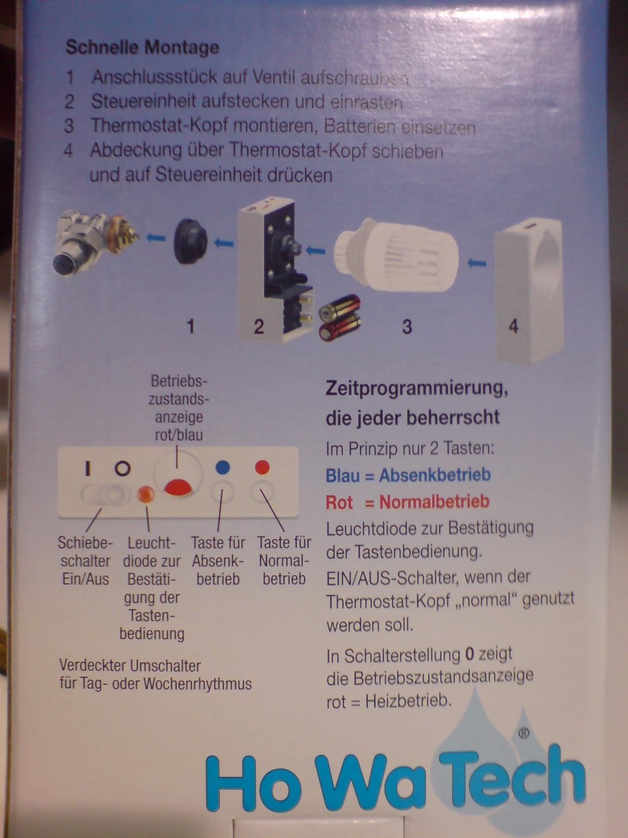 Honeywell Rondostat HR20E per AVR steuern und konfigurieren ...