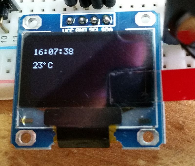 SSD1306 Library zum Darstellen von Text auf OLED Displays