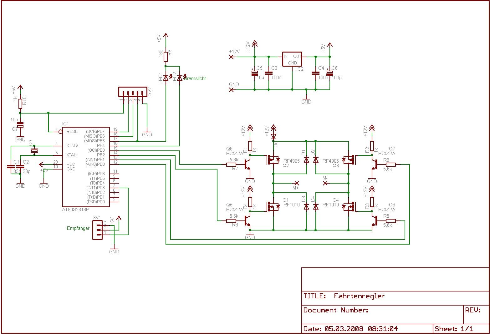 Fahrtenregler mit Bremse so möglich? - Mikrocontroller.net