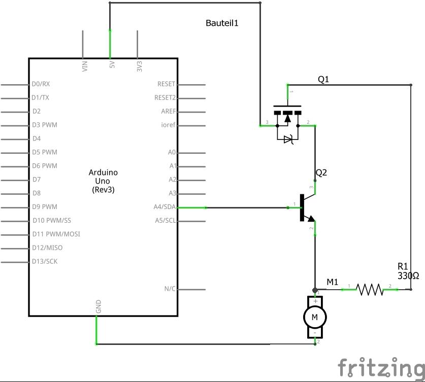 Schaltung mit Transistor und MOSFET - Mikrocontroller.net