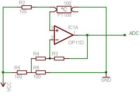 Einfache Schaltung zur Temperaturmessung mit PT100 - Mikrocontroller.net