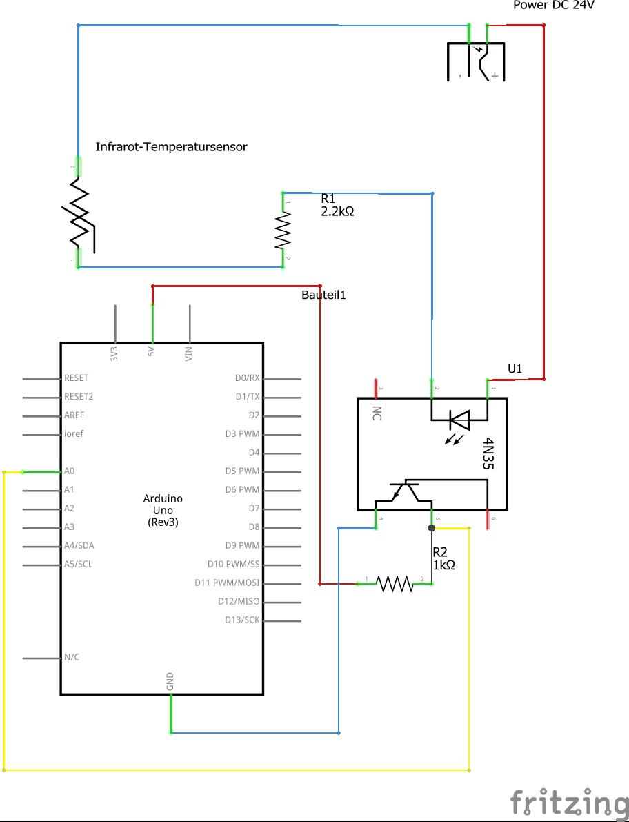 24V Infrarot-Temperatursensor mit 4-20 mA Ausgang an Arduino ...