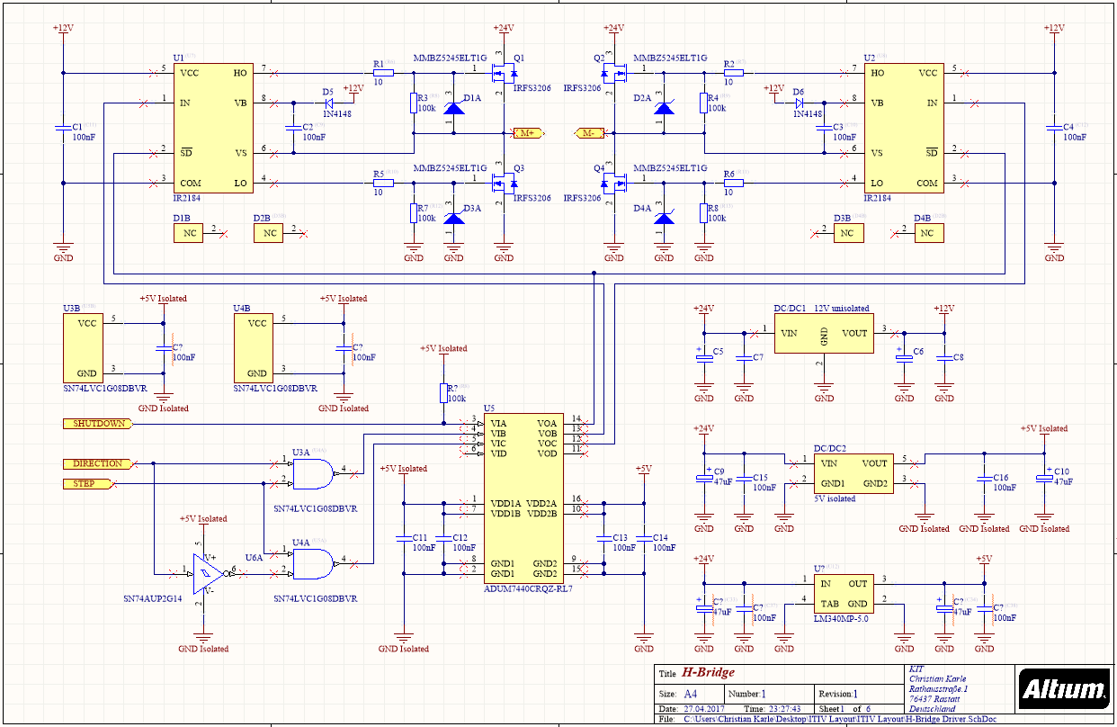 Validierung Schaltplan H-Brücke - Mikrocontroller.net